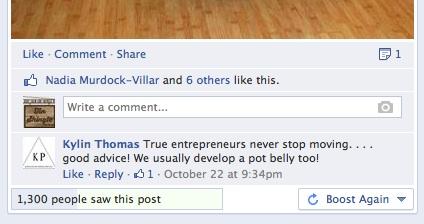 Boost Again at Facebook