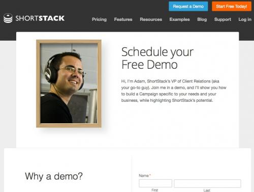 ShortStack's Demo Page