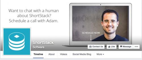ShortStack's Call to Action Button at Facebook