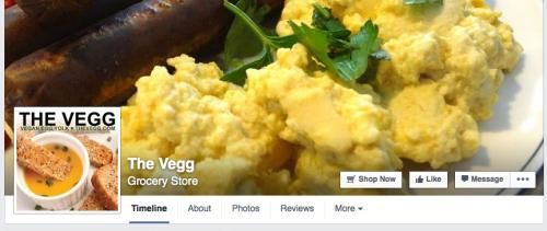 The Vegg's Call to Action Button at Facebook
