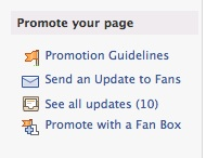 Send an Update to Fans in Promote Your Page