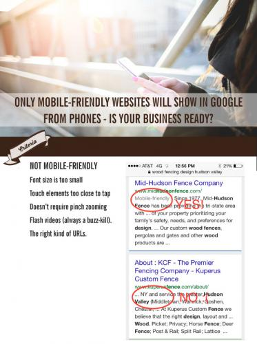 Only Mobile Friendly Websites Will Display in Google When Users Search From Phones. Is Your Business Ready? Here's What You Need to Know