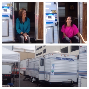 Hold Your Haunches Founders in their trailer on Shark Tank