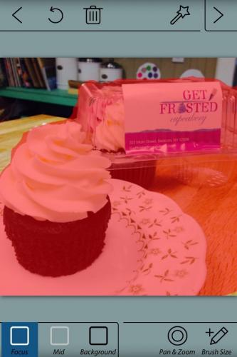 Blurring of Cupcake Photo Using AfterFocus