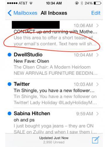 Newsletter Teaser Field Easy Marketing Trick