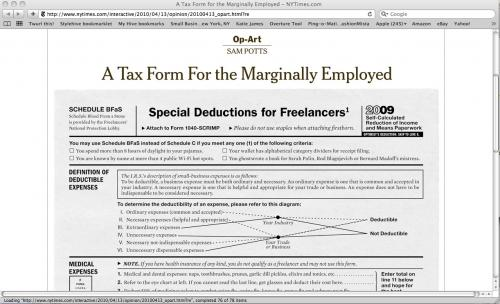 A Tax Form for the Maginally Employed