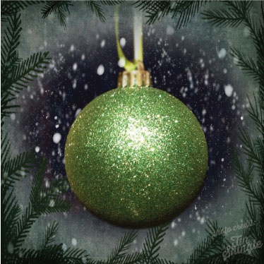 Green ornament. Photo credit Katie Hellmuth Martin and Jackie Nees, Tin Shingle