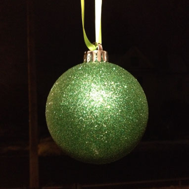 Green ornament. Photo credit Katie Hellmuth Martin, Tin Shingle
