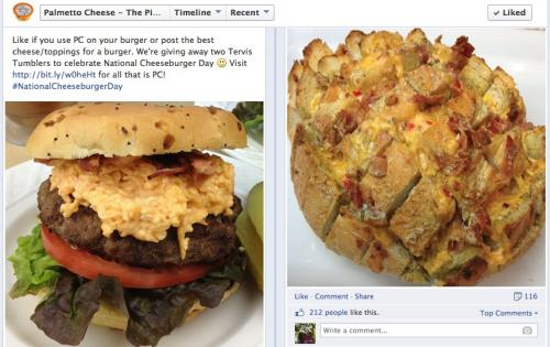 National Cheeseburger Day - put some Palmetto Cheese on it
