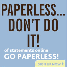 Paperless Bank Statements - Don't Do It!