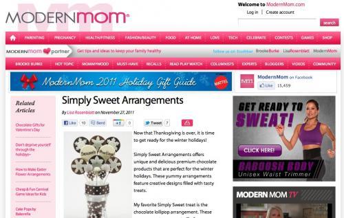 Simply Sweet Arrangements snags ModernMom Press