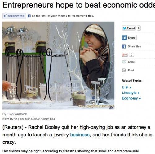 Entreprenerus hope (and did!) Beat Economic odds
