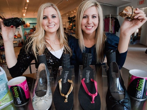 Sarah and Jennifer Caplan, co-founders FootzyFolds
