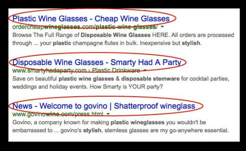 Search for Wine Glasses in Google Is First Step In Attracting The Right Customer