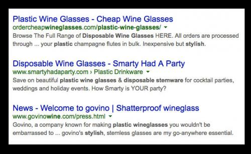 SEO Listings of Wine Glasses - Which Appeals the Most to You?