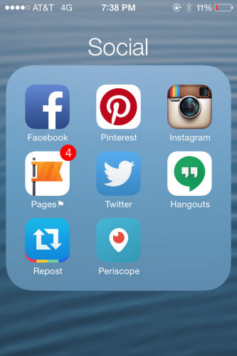 Quick Access to Social Media Buttons