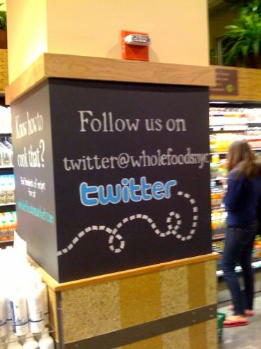 Follow Whole Foods NYC on Twitter