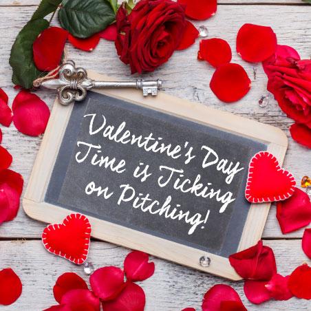 Valentine's Day Pitch the Press Chalkboard