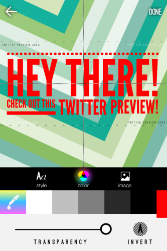 WordSwag Makes Twitter Image Alignment Easy With Twitter Preview Area!