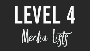 Tin Shingle's Membership Level 4: Media Lists