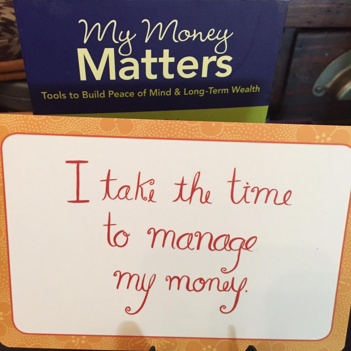 My Money Matters Affirmation Card, from Galia Gachon Down to Earth Finance