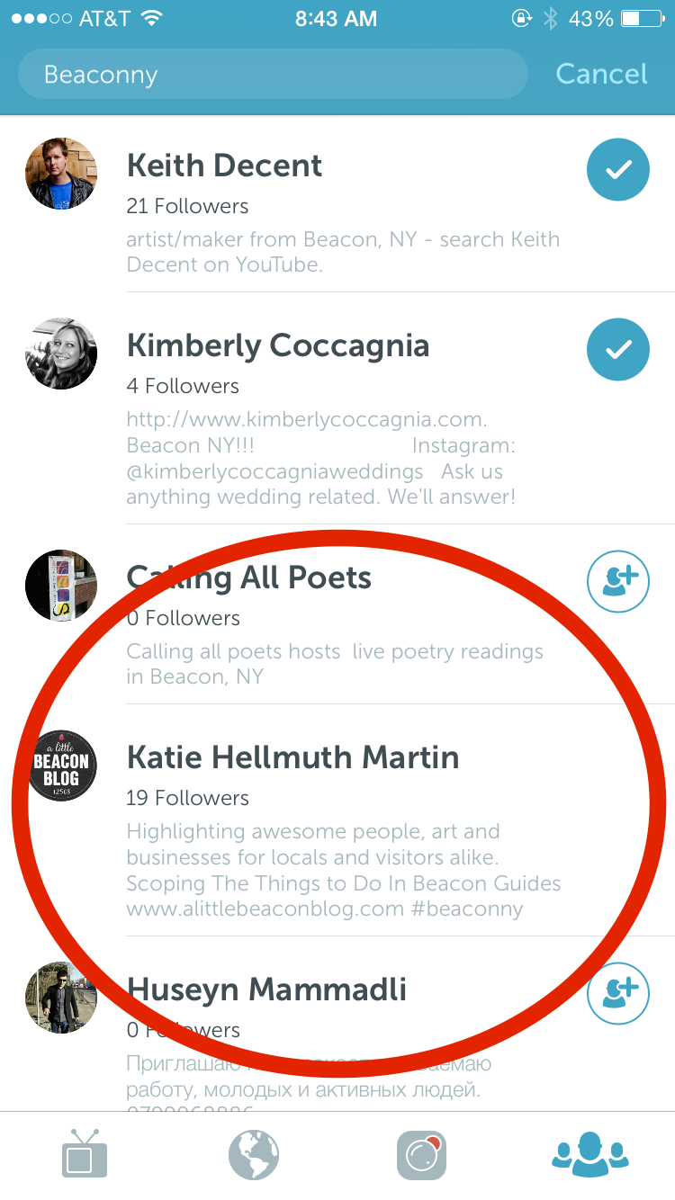 A personal first and last name used in the Full Name Field of a Periscope bio.