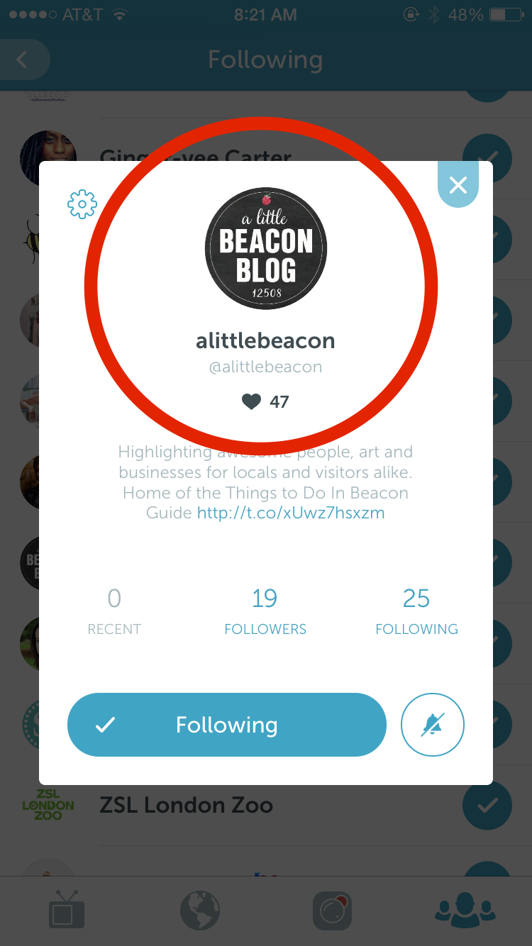 A Periscope name field that mimicked the Twitter handle.