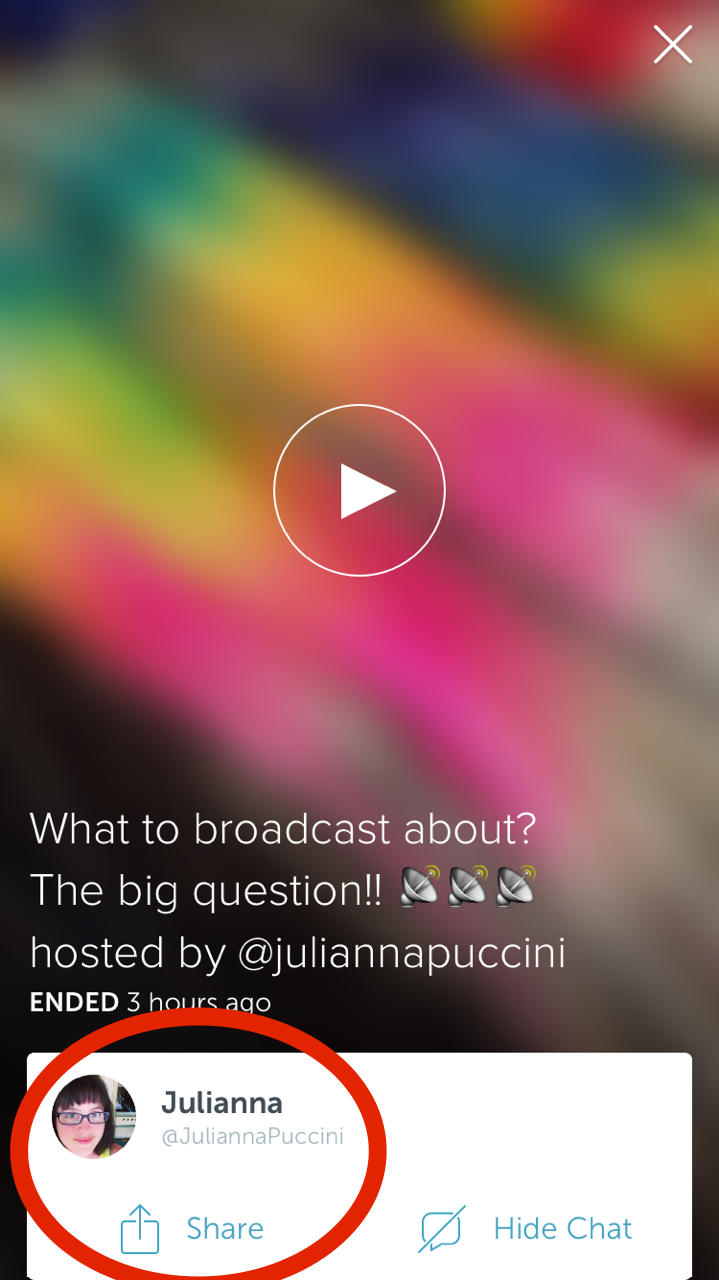 How To Share A Broadcast In Periscope - And How People Are Pinging Me About It