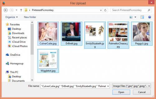 Upload files to PicMonkey