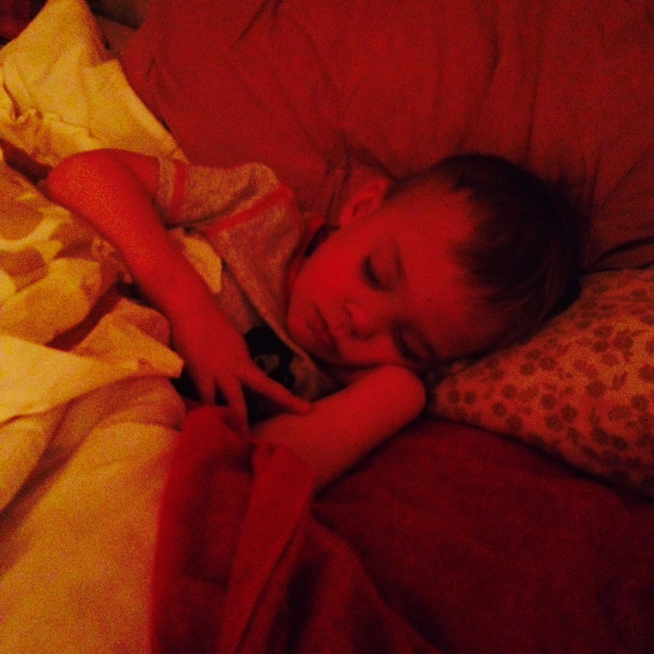 My Child Sleeping at the End of His Sick Day